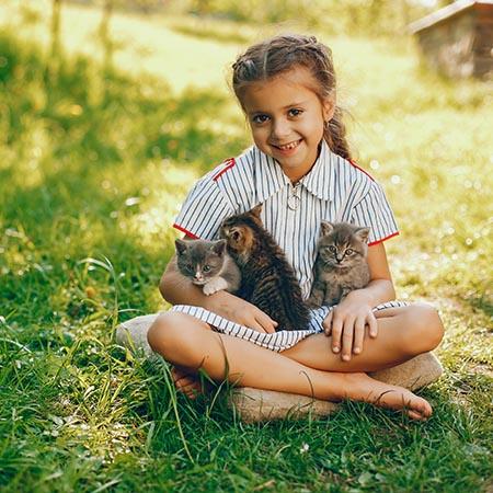 Relação entre crianças e animais de estimação: Benefícios